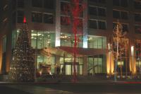 Рождественская елка на улице в Баку, Азербайджан