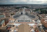 Площадь святого Петра в Ватикане (Рим, Италия)